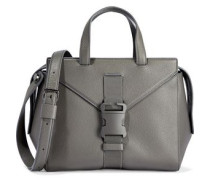Mini Marshall Buckled Textured-leather Shoulder Bag Gray Size --