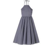 Gretta Gingham Cotton-poplin Dress Navy