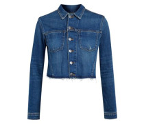 Zuma cropped studded denim jacket