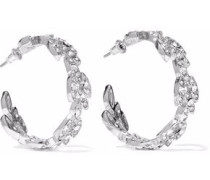 Silver-tone crystal earrings