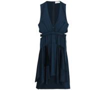 Cutout silk-blend satin mini dress