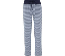 Striped stretch modal-jersey pajama pants