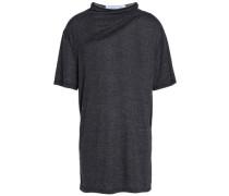 Cutout marled jersey T-shirt
