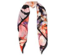 Floral-print silk-chiffon scarf