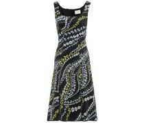 Tate Suzu Swirl Floral-print Neoprene Dress Black Size 14