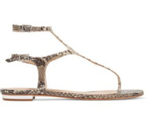 Galey snake-effect leather sandals