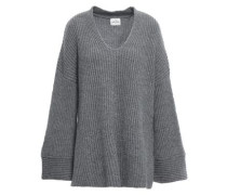 Nice Ribbed Cashmere Sweater Gray