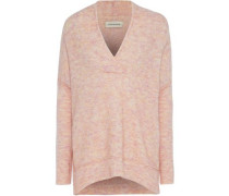 Brushed-knitted Sweater Blush