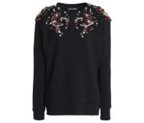 Embellished French cotton-terry sweatshirt