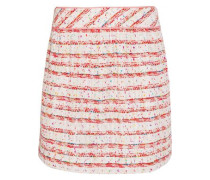 Cotton-blend bouclé mini skirt