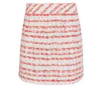 Cotton-blend bouclé mini skirt