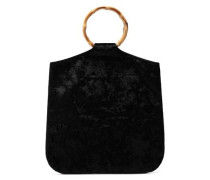 Hudson Velvet Tote Black Size --