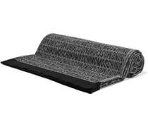 Fringed wool-jacquard scarf