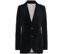 Albert Cotton-blend Velvet Blazer Midnight Blue