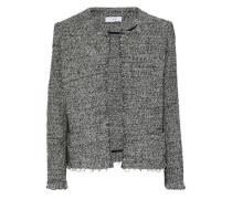 Vivien ring-embellished cotton-blend tweed jacket