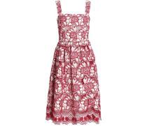 Embroiderd cotton and silk-blend dress