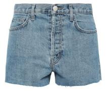 Frayed Denim Shorts Light Denim  4