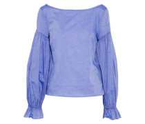 Linda Cotton-chambray Blouse Azure