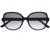 Square-framed Acetate Sunglasses Black Size --