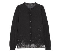 Burnout cotton-blend cardigan
