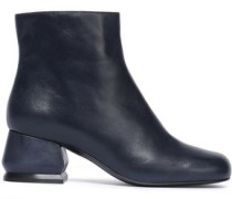 Woman Leather Ankle Boots Storm Blue
