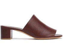 Leather Mules Chocolate