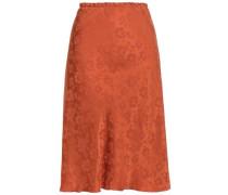 Satin-jacquard Skirt Copper