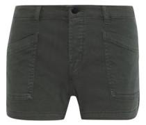 Brona Cotton-blend Twill Shorts Army Green  4
