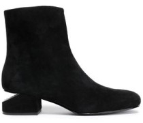 Kelly Suede Ankle Boots Black