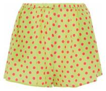 Polka-dot silk crepe de chine shorts