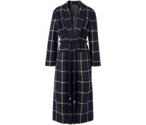 Anya Tie-front Wool-blend Coat Navy