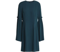 Ruffle-trimmed Cady Mini Dress Petrol