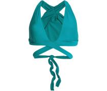 Woman Wrap Bikini Top Teal