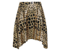 Sequined Metallic Tulle Skirt Gold