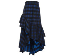 Stirling Asymmetric Jacquard Skirt Navy