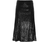 Braxton sequined mesh midi skirt