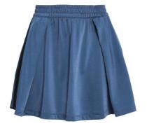 Pleated jersey mini skirt