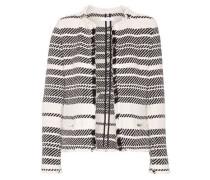 Zlata striped cotton-blend tweed jacket