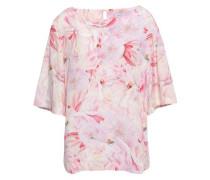 Floral-print Silk-crepe Blouse Baby Pink