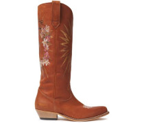 Painted Leather Boots Tan