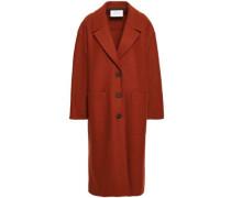 Virgin Wool-felt Coat Brick