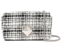 Cotton-blend Tweed Shoulder Bag Off-white Size --