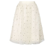 Catrina embellished tulle and organza skirt