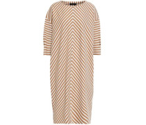 Striped Jersey Dress Light Brown