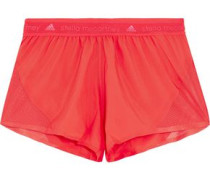 Run mesh-paneled shell shorts