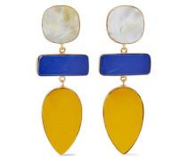 Gold-tone stone earrings