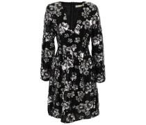 Embellished Crepe Mini Dress Black Size 0