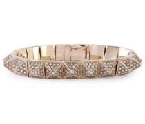 Gold-tone Crystal Bracelet Gold Size --