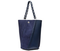 Leather And Suede Bucket Bag Indigo Size --