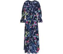 Floral-print chiffon maxi dress